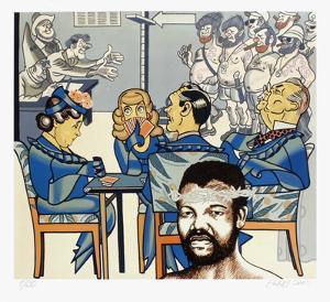 Hommage À Mandela by Erró (Gudmundur Gudmundsson)