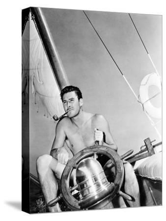 Errol Flynn Relaxing on His Yacht, October 20, 1937