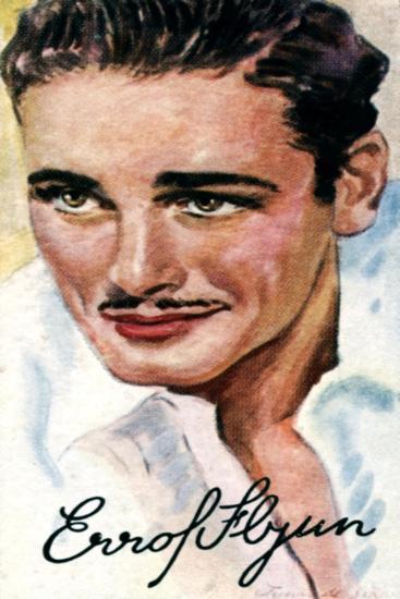 Errol Leslie Thomson Flynn, (1909-195), Australian Film Actor, 20th Century--Giclee Print