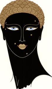 Queen of Sheba-no border by Erte