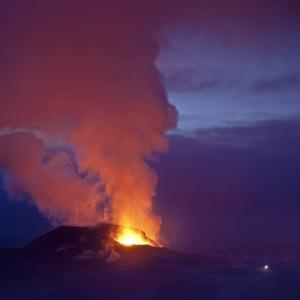 Eruption at Eyjafjallajokull glacier