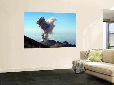 Eruption of Ash Cloud from Santiaguito Dome Complex, Santa Maria Volcano, Guatemala-Stocktrek Images-Wall Mural