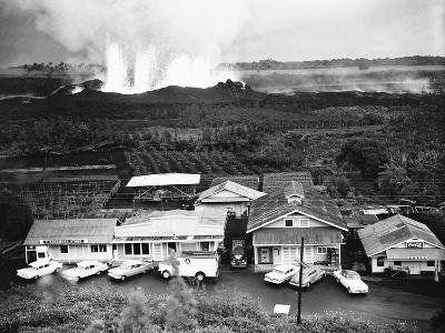 Eruption of Kilauea Near Kapoho Plantation--Photographic Print