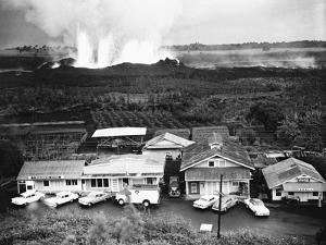 Eruption of Kilauea Near Kapoho Plantation