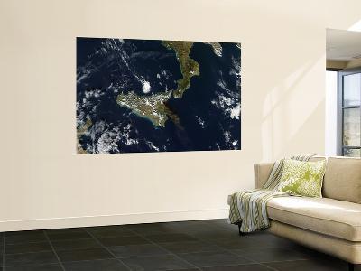 Eruption of Mt. Etna in Sicily, November 24, 2006--Giant Art Print