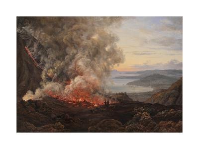 Eruption of the Volcano Vesuvius, 1821-Johan Christian Clausen Dahl-Giclee Print