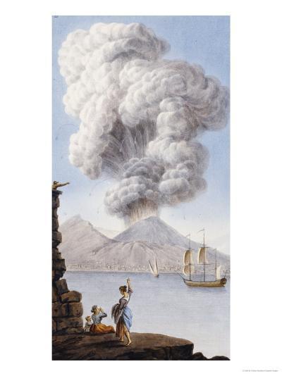 Eruption of Vesuvius, 1776-Sir William Hamilton-Giclee Print