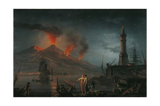 Eruption of Vesuvius by Charles Francois Lacroix De Marseille, 18th C.-Charles Francois Lacroix de Marseille-Giclee Print