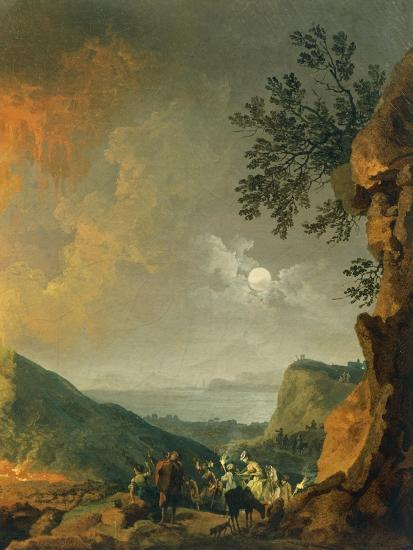 Eruption of Vesuvius-Pierre-Jacques Volaire-Giclee Print