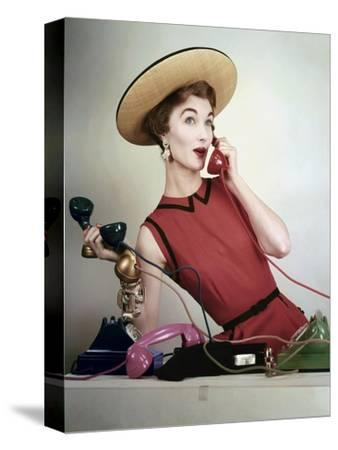 Vogue - April 1953 - Juggling Phone Calls
