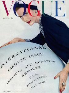 Vogue Cover - March 1953 by Erwin Blumenfeld
