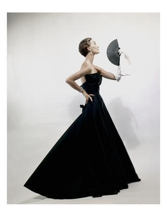 Vogue - November 1949 - Model wearing Christian Dior 1949