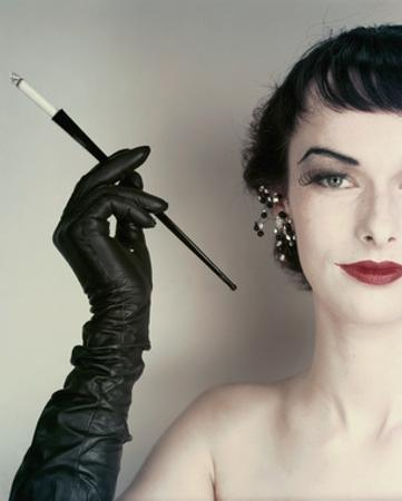 Vogue - October 1952 - Woman with Cigarette Holder