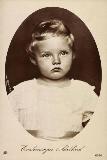 Erzherzogin Adelheid Von Österreich, Kind,Npg 6092--Giclee Print