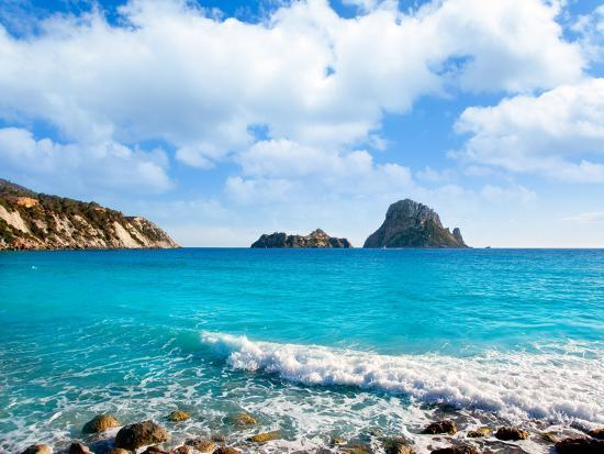 Es Vedra Island of Ibiza View from Cala D Hort in Balearic Islands  Photographic Print by Natureworld | Art com