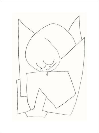 Es Weint, c.1939-Paul Klee-Serigraph