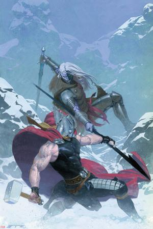 Thor: God of Thunder #16 Cover: Thor, Malekith by Esad Ribic