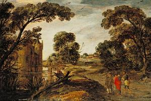 Summer Landscape (The Road to Emmaus) 1612-13 by Esaias I van de Velde