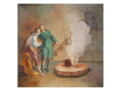 Esau Selling His Birthright for a Lentil Plate-Marcello Dudovich-Giclee Print