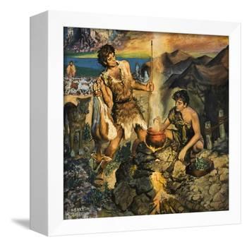Esau Sells His Birthright-Harry G^ Seabright-Framed Premier Image Canvas