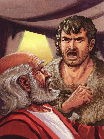 Esau with His Father Isaac-Pat Nicolle-Giclee Print