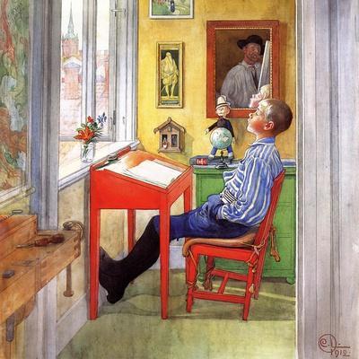 esbjorn doing his homework