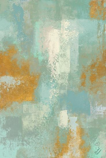Escape into Teal Abstraction I-Michael Marcon-Art Print