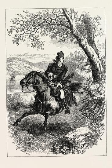 Escape of Benedict Arnold, 1740-1801, USA, 1870S--Giclee Print