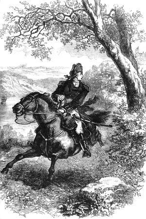 Escape of Benedict Arnold, 1780--Giclee Print