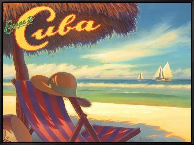 Escape to Cuba-Kerne Erickson-Framed Canvas Print