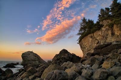 Escape to the Coast, Clouds Seascape at Patricks Point, Humboldt-Vincent James-Photographic Print