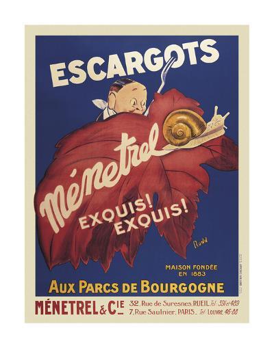 Escargots Menetrel-Vintage Posters-Art Print