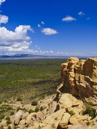 Escarpment and Lava Beds in El Malpais National Monument, New Mexico-Michael DeFreitas-Photographic Print