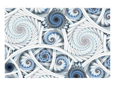 Escher-Like Fractal Spirals--Art Print