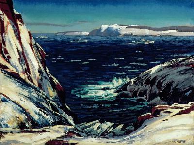 Escort Entering Harbour, St. John's 1945-Thomas Charles Wood-Giclee Print