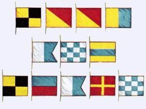 Signal Flags, Spelling Look and Learn by Escott