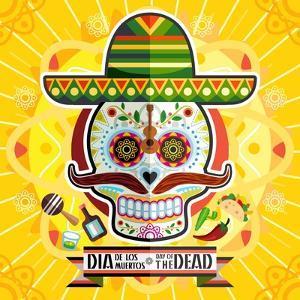 Dia De Los Muertos Day of the Dead Skull by escova