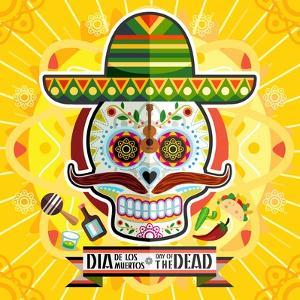 Dia De Los Muertos Day of the Dead Skull by escova