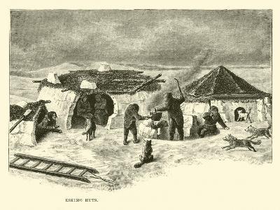Eskimo Huts--Giclee Print