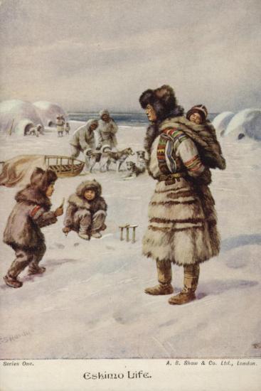 Eskimo Life-Evelyn Stuart Hardy-Giclee Print