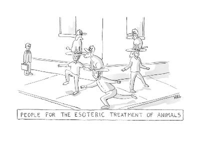 esoteric treatment - New Yorker Cartoon-Michael Rae-Grant-Premium Giclee Print
