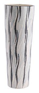 Espiga Tall Vase White & Black