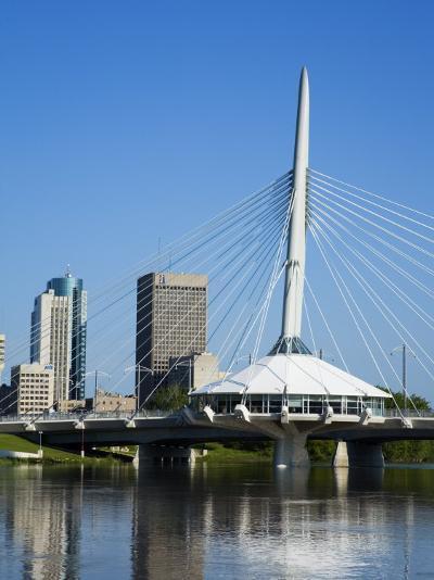 Esplanade Riel Pedestrian Bridge, Winnipeg, Manitoba, Canada, North America-Richard Cummins-Photographic Print