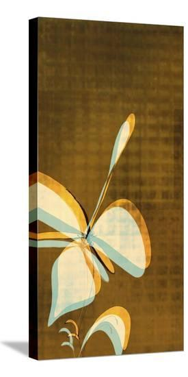Espresso Floral II-Jan Weiss-Stretched Canvas Print