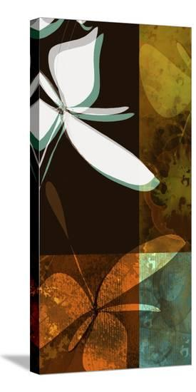 Espresso Floral III-Jan Weiss-Stretched Canvas Print