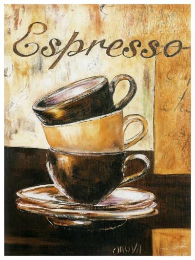 Espressos 3 Tasses-Clauva-Art Print