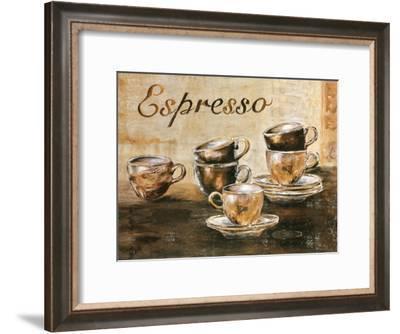 Espressos 6 Tasses-Clauva-Framed Art Print