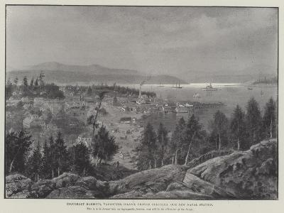 Esquimalt Harbour, Vancouver Island, British Columbia, Our New Naval Station--Giclee Print