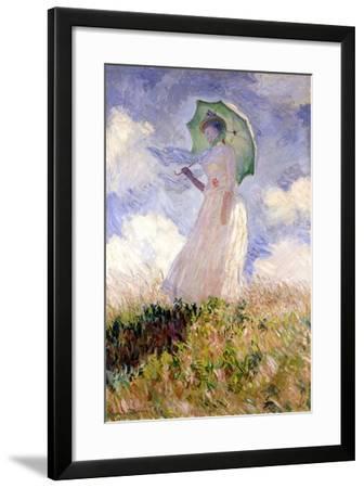 Essai de figure en plein air (1886), Dit femme à l'ombrelle tournée vers la gauche-Claude Monet-Framed Giclee Print