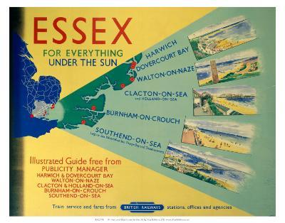 Essex: For Everything Under the Sun, BR, c.1948-1965--Art Print